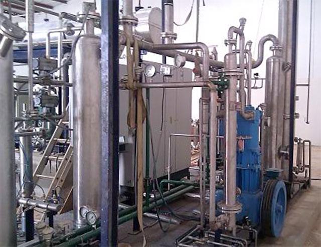Pile gaz CO2 Usine de récupération