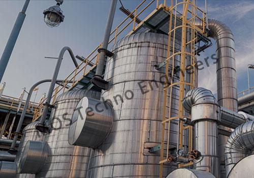 Réservoir de stockage de gaz industriel sur mesure