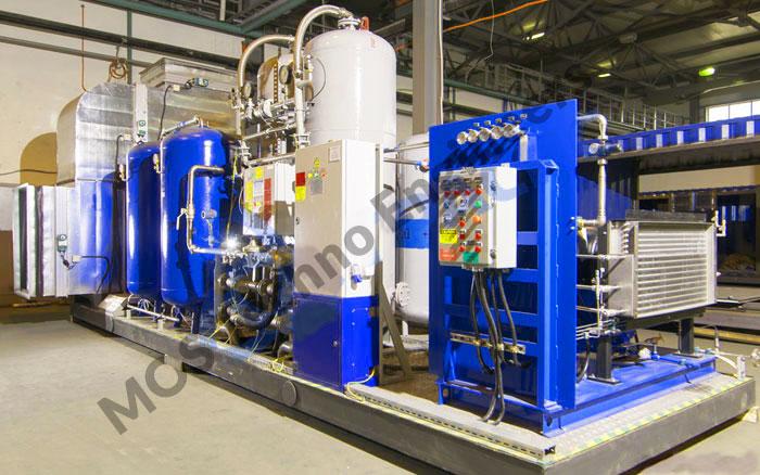 Usine de remplissage d'oxygène gazeux